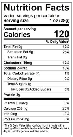 Aux Arcs Nutrition Facts