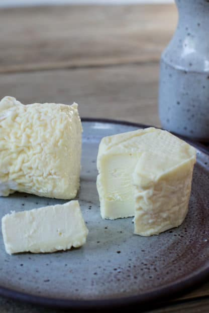 Try tuffet, a blended cow and sheep milk cheese at Green Dirt Farm.