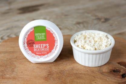 Green Dirt Farm Fresh Spreadable Cheese: Spicy Chilis
