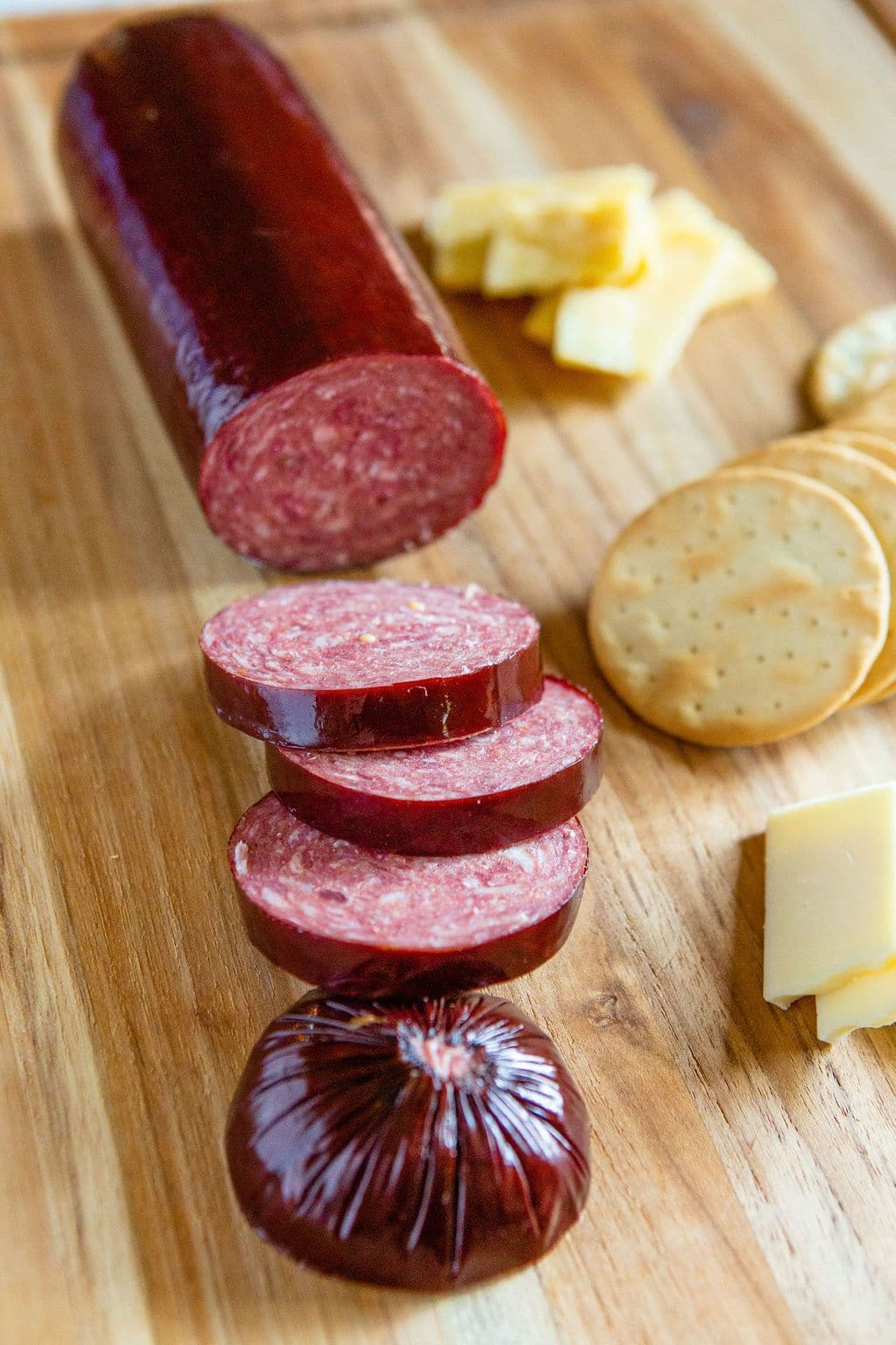 Complete Your Green Dirt Farm care package with summer sausage from KC Cattle Company.