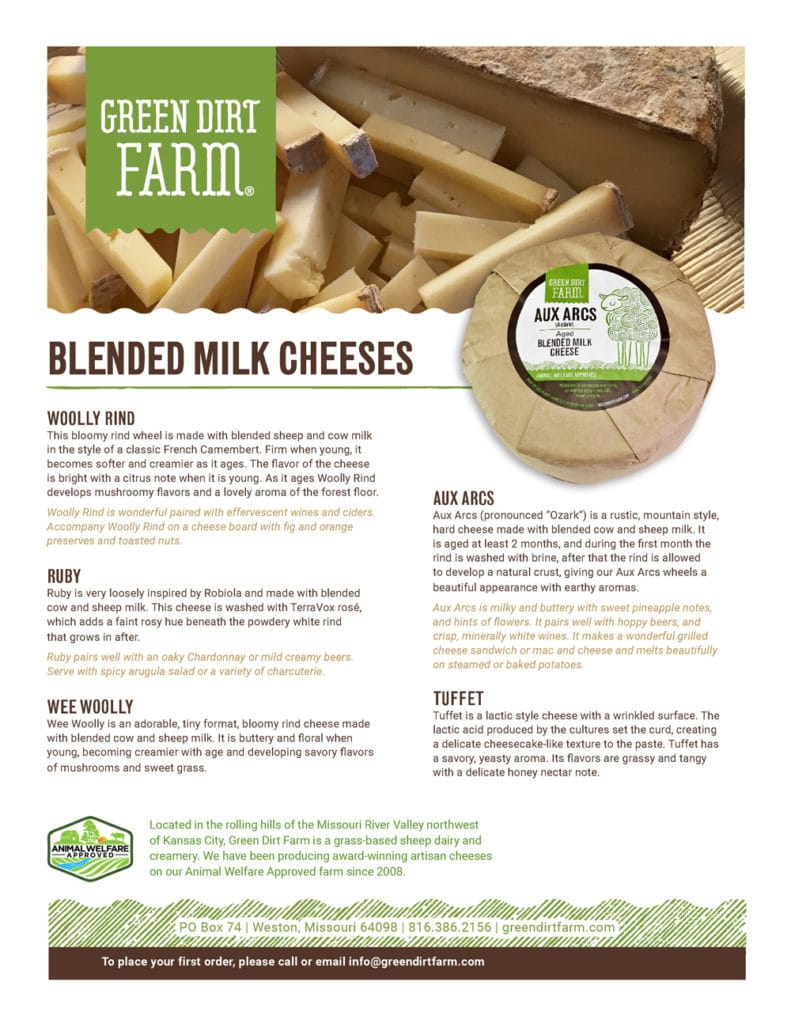 Blended Milk Cheeses Product Guide